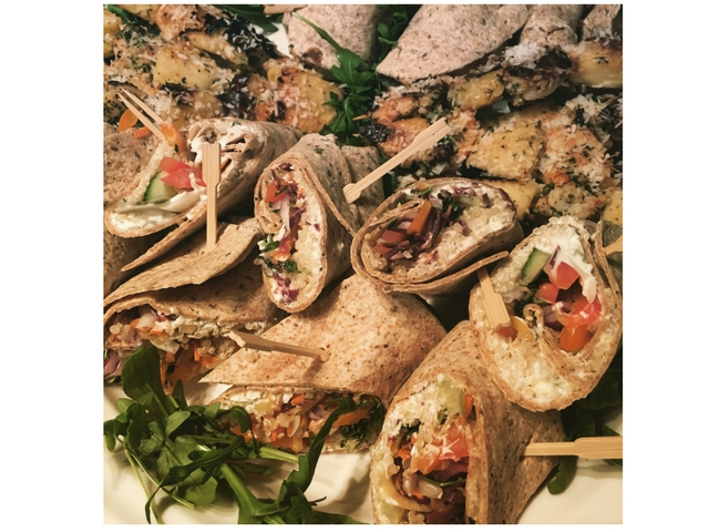 wraps and skewers